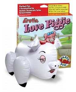 Erotic Love Piggie Inflatable Blow Up Toy ~ PD8606-00